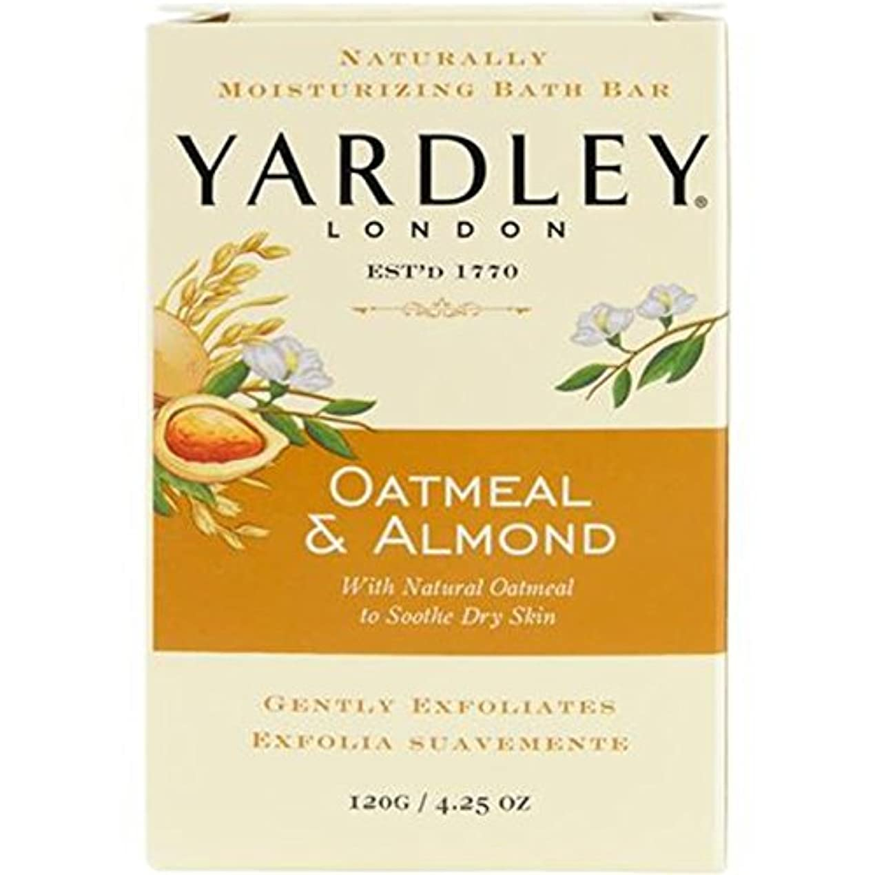 呼びかける不名誉な高齢者ヤードレー オートミール&アーモンドソープ 120g (並行輸入品)
