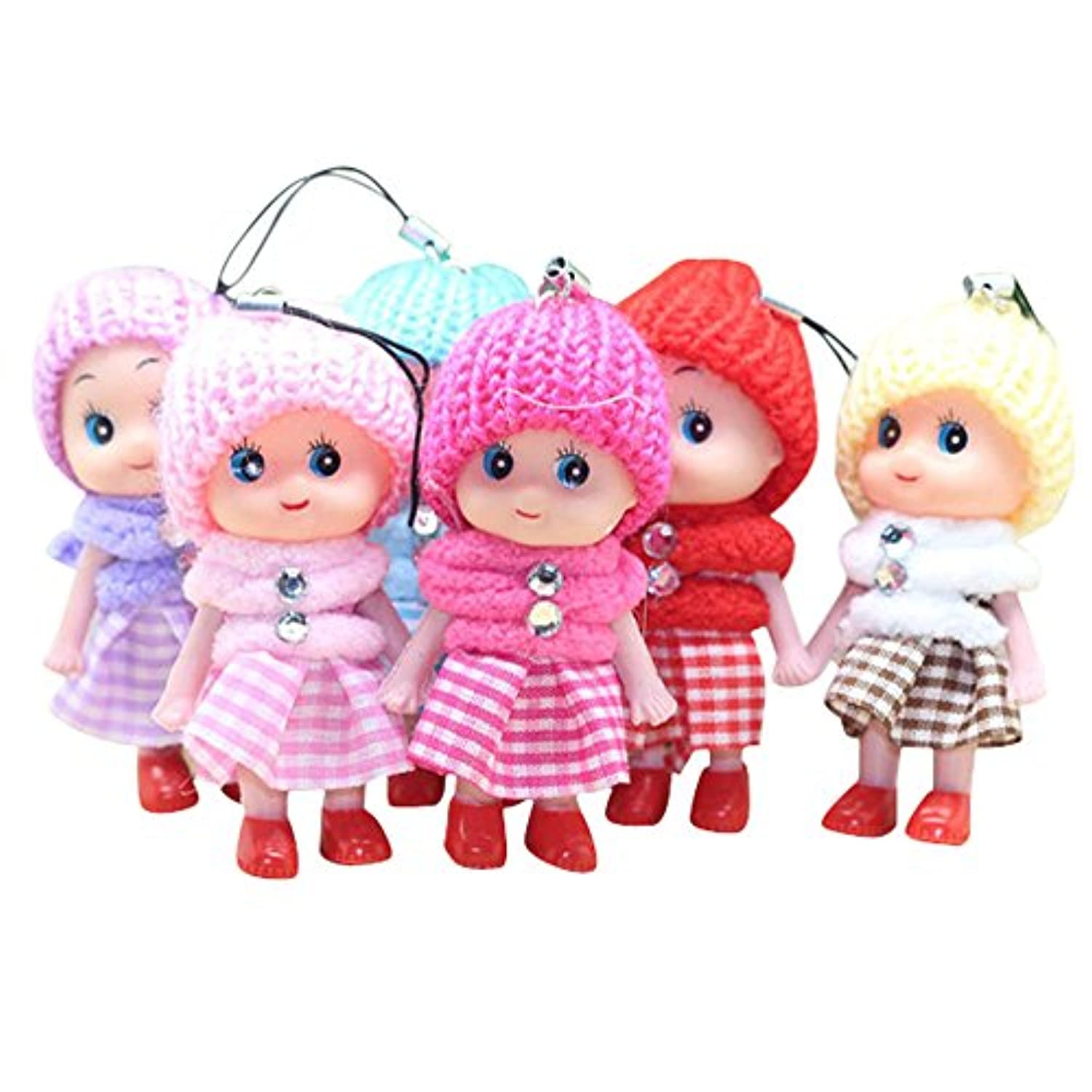 5Pcs Kids Toys Soft Interactive Baby Dolls Toy,Littleice Mini Doll For Girls and Boys Hot For Smartphone