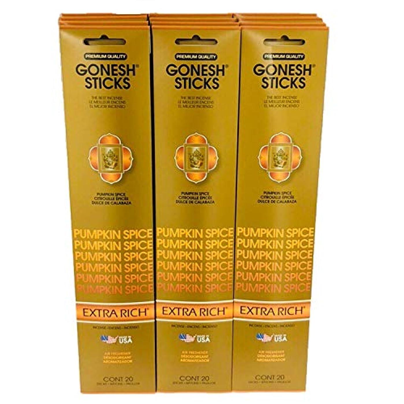 モッキンバード見えない核Gonesh Incense – 12 Pumpkin Spiceパック( 240 Sticks ) Incense Sticks Extra Richコレクション