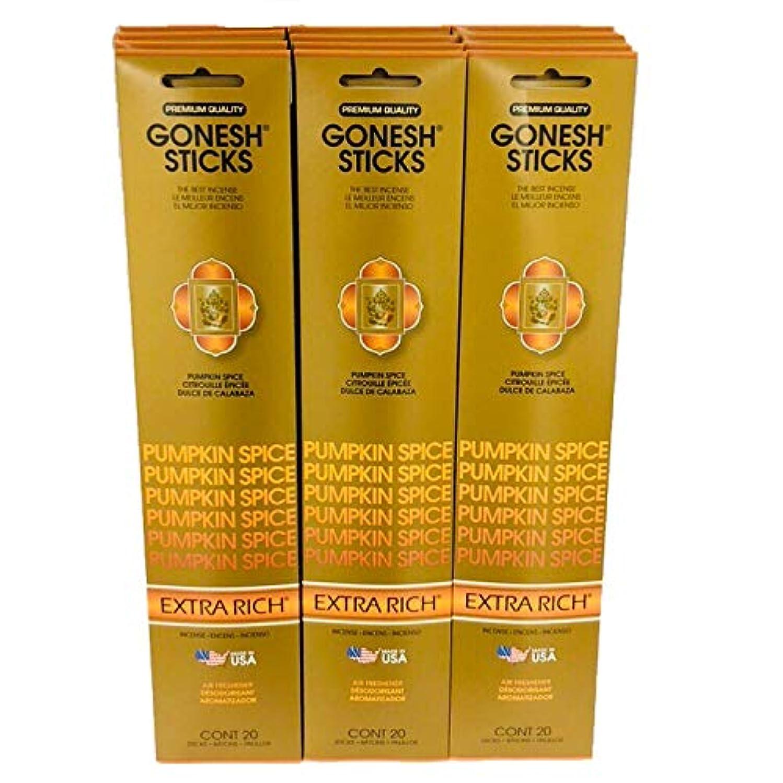 モールス信号叙情的な質量Gonesh Incense – 12 Pumpkin Spiceパック( 240 Sticks ) Incense Sticks Extra Richコレクション
