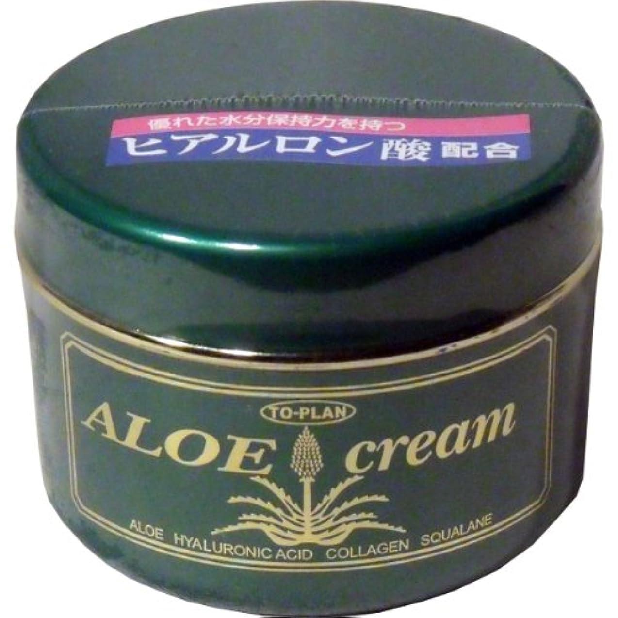 トロリーバス受け取る騙すトプラン ハーブフレッシュクリーム(アロエクリーム) ヒアルロン酸 170g ×10個セット