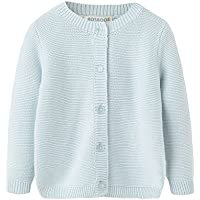 BOSBOOS Baby Boys Girls Toddler Solid Cotton Cardigan Sweater for Winter