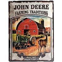 Nostalgic Art 23167Tin Sign John Deere Farming Traditions 30x 40cm by Nostalgic Art