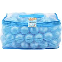Lightaling ブルーオーシャンボール100個 & ピットボール 2.28インチ ソフトプラスチックフタル酸エステル&BPAフリー 耐クラッシュ性 再利用可能 丈夫なメッシュバッグ ジッパー付き