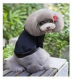 SCT シンプルが1番♪ ドッグウェア 無地 小型犬/犬 猫 用/パーカー/防寒/服 (XXL, ブラック)