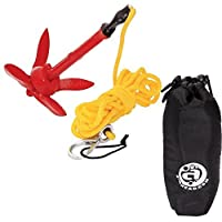 Kayak Anchor Bag Airhead Folding Anchor Kit SUP Kayak Canoe w/ D-ring, Rope by Canoe