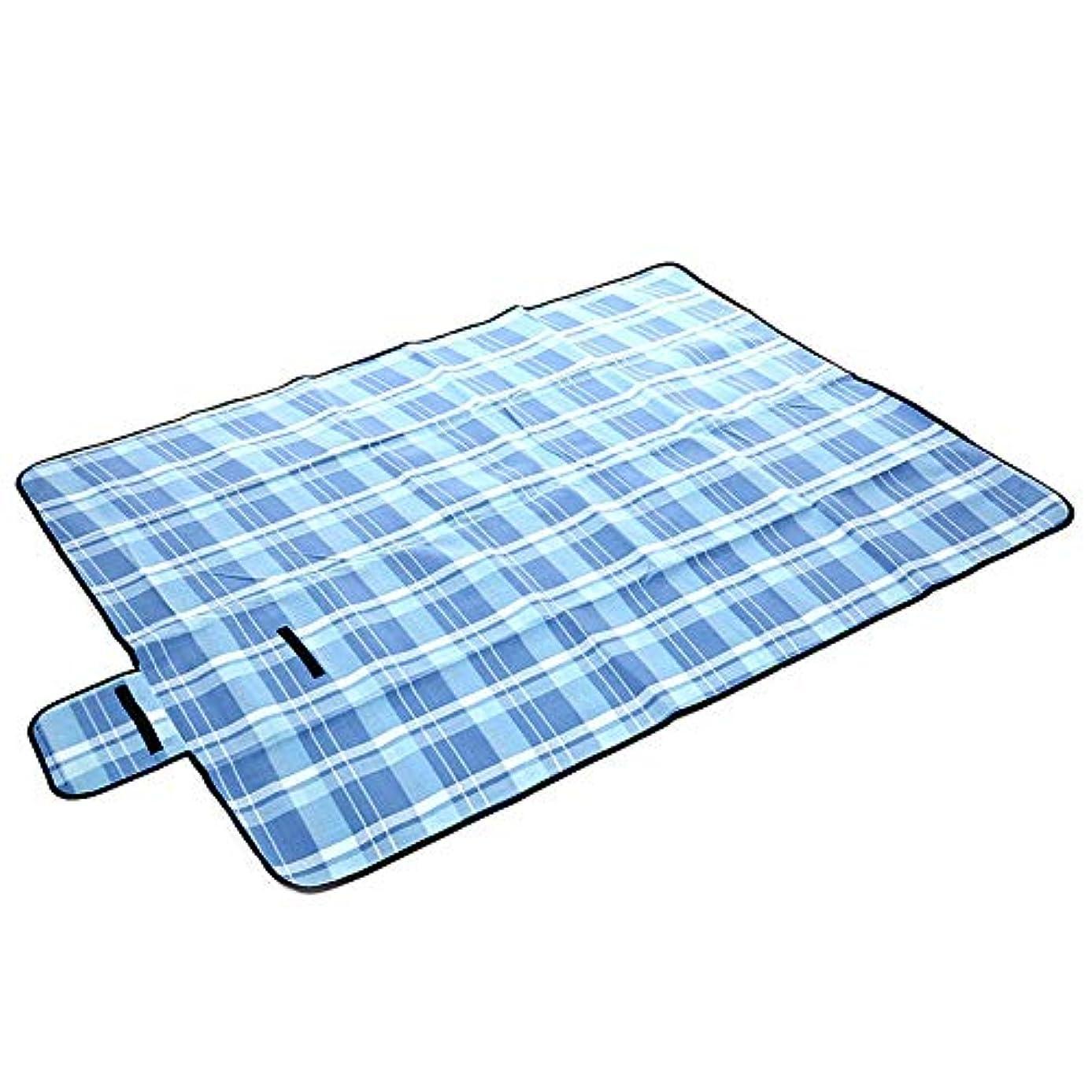 レジャーシートピクニックマット 150x200cm防水折りたたみ式屋外キャンプマットピクニックマットチェック柄ビーチブランケットベビークライムブランケットマルチプレイヤーツーリストマット