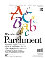Strathmore 25-908 200 Series Parchment, Asst. Tints, 22cm x 28cm Tape Bound, 50 Sheets