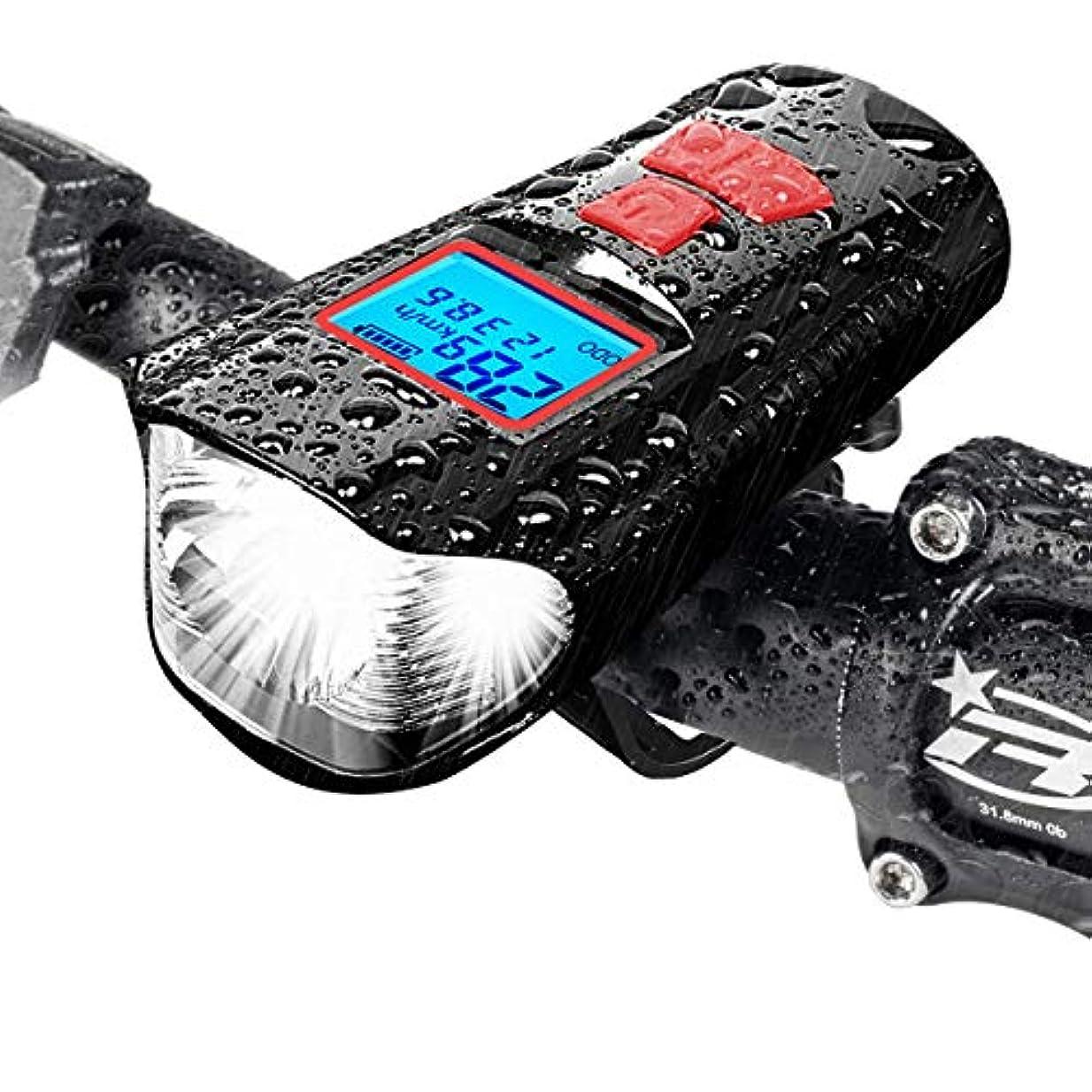 岸多用途乱暴な自転車 ライト、サイクルコンピュータ 自転車、USB 充電式 LED 自転車 ヘッドライト、ライトモード4種類、防水耐震取り付けが簡易1500MHA電池容量夜間乗り、キャンプ、ハイキング、冒険、釣りに最適です