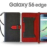 Galaxy S6 Edge SC-04G SCV31 404SC ケース JMEIオリジナルカルネケース VESTA ブラック docomo au softbank ドコモ エーユー SAMSUNG サムスン ギャラクシーs6エッジ スマホ カバー スマホケース 手帳型 ショルダー スマートフォン