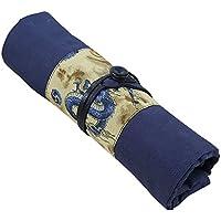MyLifeUNIT Pencil Pen Wrap, Dragon Pattern Pencil Pen Case, Fountain Pen Case Wrap Roll Holder