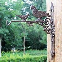 HZB ヨーロッパスタイルのフック、鋳鉄工芸品、アイロンタイフック、バードクラシック、ノスタルジック風中庭フック、壁装飾ハンガーフック