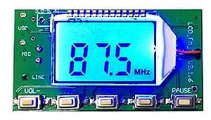 BHC-M-D01 小型デジタル ステレオFM送信機 LINE MIC 多機能 USBケーブル付き