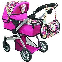 [ドールストローラーズプロ]Doll Strollers Pro Deluxe Doll Pram with Swiveling Wheels & Adjustable Handle and Free Carriage Bag [並行輸入品]