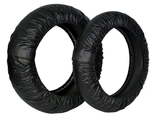 Rise 17インチ タイヤ保護カバー(まもる君)ブラック 前後セット アクリルカラーコーティング(UVカット・撥水・防水加工) クルッと巻いてピタッの簡単装着