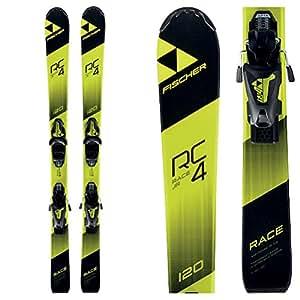 FISCHER(フィッシャー)【A19417】17-18 ジュニア スキー板 ビンディングセット RC4 RACE JR + FJ4AC(80616) BLK×YEL 110