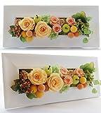 パラボッセ プリザーブドフラワー レクタングル オレンジ ケース入 横幅33cmx10cmx高さ15cm preserved flowers