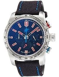 [ハンティングワールド]HUNTING WORLD 腕時計 スーパークロノマジック クォーツ ブラック×オレンジ文字盤 10気圧防水 HW025SBKR メンズ 【正規輸入品】