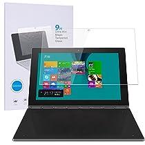 【Qosea】Lenovo Yoga Book 10.1 専用強化ガラスフィルム 硬度9H 超薄0.3mm 2.5D ラウンドエッジ加工 高透過率 (Lenovo Yoga Book, 強化ガラスフィルム)
