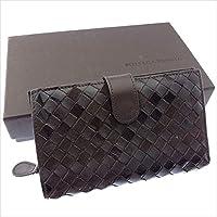 ボッテガヴェネタ BOTTEGA VENETA 二つ折り財布 ラウンドファスナー ユニセックス 121060 イントレチャート 中古 Y3046