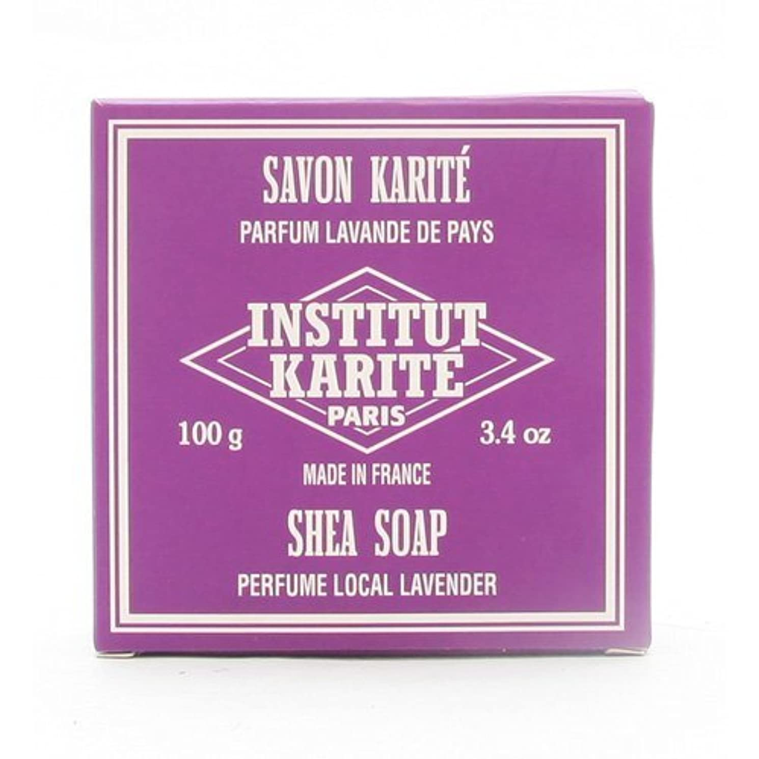 ステープル待つ倍増INSTITUT KARITE インスティテュート カリテ 25% Extra Gentle Soap ジェントルソープ 100g Local Lavender ローカルラベンダー