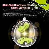 DDG-4ミニ25km / hレーザー高速高速自動電気レーシングカー車用フラッシュライト付き子供用キッズギフトプレゼント(色:緑)