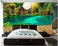 LJJLM 美しいサンシャインウォールペーパーの家の装飾の風景-160X120CM