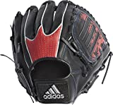 adidas(アディダス) 野球 軟式カラーグラブ (グローブ) ETY97 ブラック/スカーレット(CX2095) 右投げ用(LH)