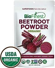 BioFinest Beetroot Juice Powder - 100% Pure Freeze-Dried Antioxidant Superfood - Usda Certified Organic Kosher