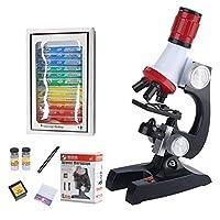 ゴシレ Gosear 子供赤ちゃん子供早期教育科学研究室1200 x顕微鏡キット付き12ピース顕微鏡スライド科学楽器玩具セット