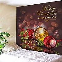 GLYY クリスマスタペストリー 150*200 CM 生地 クリスマス 北欧調 北欧風 ファブリック 北欧柄 布 布地 ハンドメイド壁に飾れるクリスマス A4