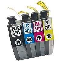 LC3111(BK/C/M/Y)-4色セット  Brother(ブラザー) 新互換インクカートリッジタイプ 最新型ICチップ対応 残量表示あり 取扱説明書付き【三大保証1年パック対応】【Mint製】