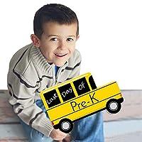 Pre-K - Last Day of School Bus Sign - Photo Prop [並行輸入品]