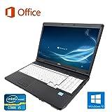 【Microsoft Office 2016搭載】【Win 10搭載】富士通 A561/C/第二世代Core i5 2.5GHz/メモリー8GB/新品SSD:240GB/DVDドライブ/10キー付/大画面15インチ/無線LAN搭載/中古ノートパソコン (新品SSD:240GB)