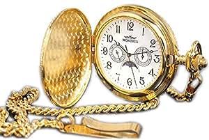 [モントレス] MONTRES 懐中時計 ポケットウォッチ 柄有り ムーンフェイズ 923S-GD-A ユニセックス