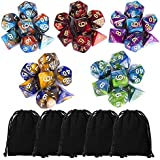 DND Dice Set, Dungeons and Dragons Dice Polyhedral Game Dice Role Playing Dice for Dungeon and Dragons DND RPG MTG Table Games D4 D8 D10 D12 D20 …