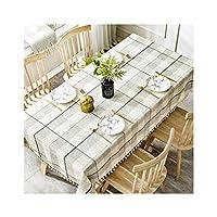 テーブルクロス 任意ダイニングおよびクリスマスパーティーのための長方形の防水および耐油性のテーブルクロス3色 (Color : B, Size : 130*220cm)