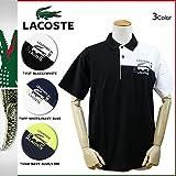 (ラコステ) LACOSTE 半袖 ポロシャツ メンズ ワニ 3カラー COLORBLOCK LOGO POLO SHIRT XS NAVY BLUE×LIME (並行輸入品)