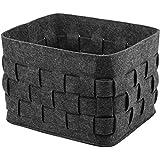 JUNHOME Woven Felt Storage Bins Handmade Storage Cubes Organizer Durable Storage Containers Large Storage Baskets for Shelf (