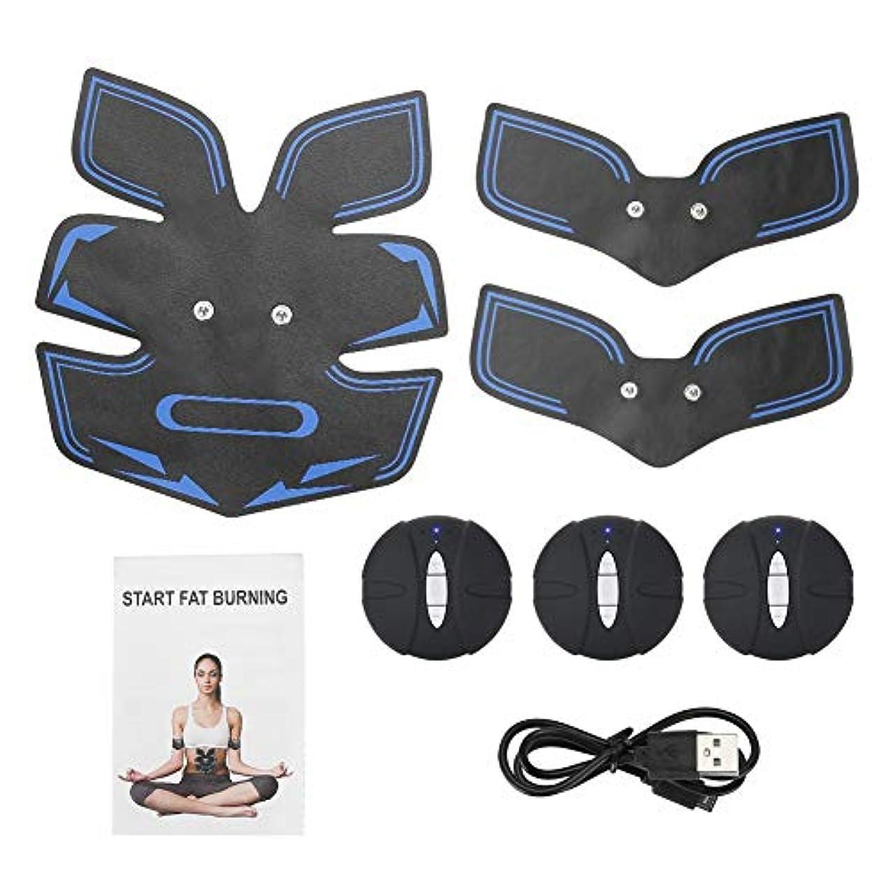 段階艶連結する電気筋肉装置、腹部のマッサージャーは女性および男性のための整形マッサージの効果を達成します