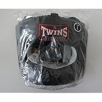 新TWINS ツインズ 本革製 キックボクシング フルフェイス型 ヘッドギア ヘッドガード 黒 Lサイズ