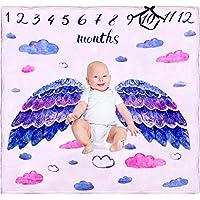 Baby Gem Gear |プレミアムフリース| Monthlyマイルストーンブランケット| Adorable天使写真背景|ユニセックスデザイン|大きいサイズ| Ultraソフト| Luxury Comfort