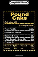 Composition Notebook: Funny Pound Cake Nutritional Facts Thanksgiving Family Gift  Journal/Notebook Blank Lined Ruled 6x9 100 Pages