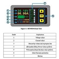 デジタルマルチメータ充放電バッテリーテスター DC 0-90 V 0-20A ィスプレイボルトアンペアメーター # Aug.26