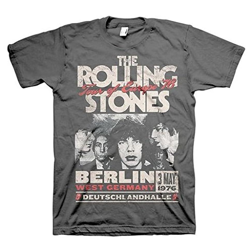 マーティフィールディング強い周波数ローリングストーンズ Rolling Stones Europe 76 Charcoal Tシャツ T-Shirt