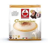 ドルチェグスト専用互換カプセル カプチーノ Cappuccino 原産国:イタリア Caffè Bonini社製造。あなたならこのカプチーノを出されたら1杯いくら払うでしょうか? 飲んでいる間は何もしたくなくなり、じっくりゆっくりと自分の癒しの世界に浸りたくなる味が来ます。自分を取り戻すにはうってつけです。