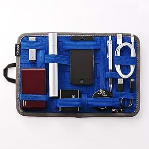 [NHK&日本テレビ「シューイチ」で放送] ガジェット&デジモノアクセサリ固定ツール 「GRID-IT! 」 A4サイズ ブルー CPG10BL