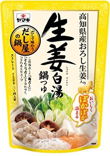 ヤマキ 生姜白湯鍋つゆ 750g×2個