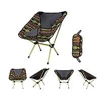 屋外折りたたみチェアムーンチェア超軽量ポータブルアルミニウム合金釣りキャンプ折りたたみテーブルと椅子カジュアルな赤い緑色の黄色ピンク (Color : Green)