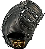 ZETT(ゼット) 野球 硬式 ファースト ミット プロステイタス (左手用) BPROCM33 ブラック